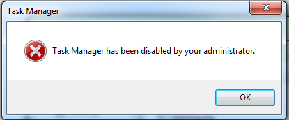 Sửa lỗi task manager has been disabled by your administrator